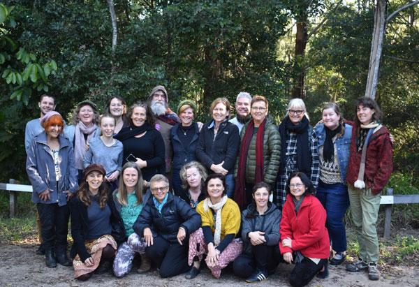 Earth Arts Retreat participants